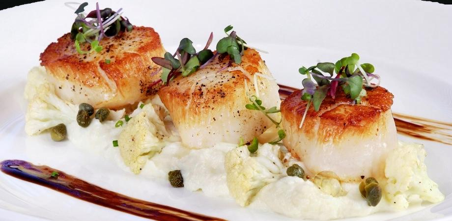 Overnight scallops team seafoods com blog for Fine dining gourmet recipes